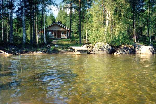 рыбалка на озере в ювяскюля